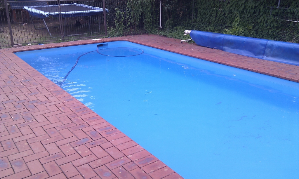 pool after a new coat of paint