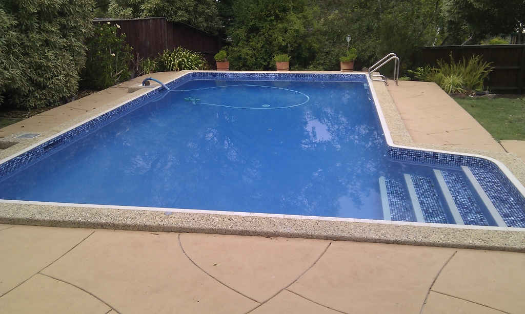 rendered pool finished
