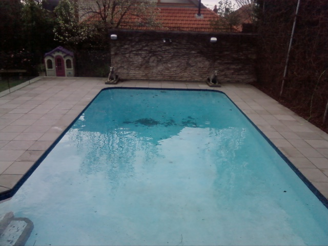 pool with old tiles