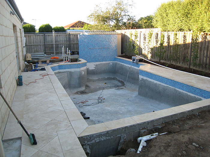 renovating swimming pool
