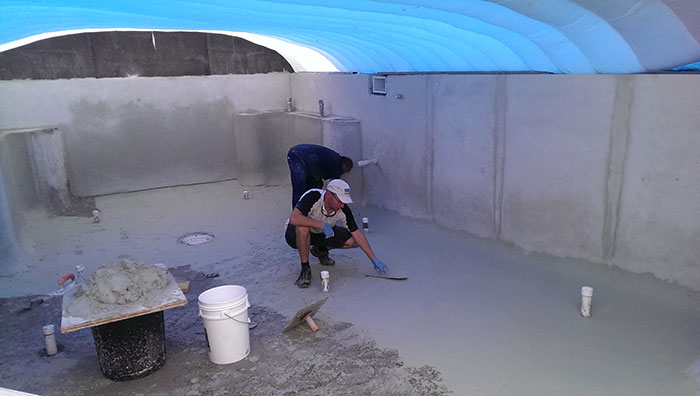 concreting pool