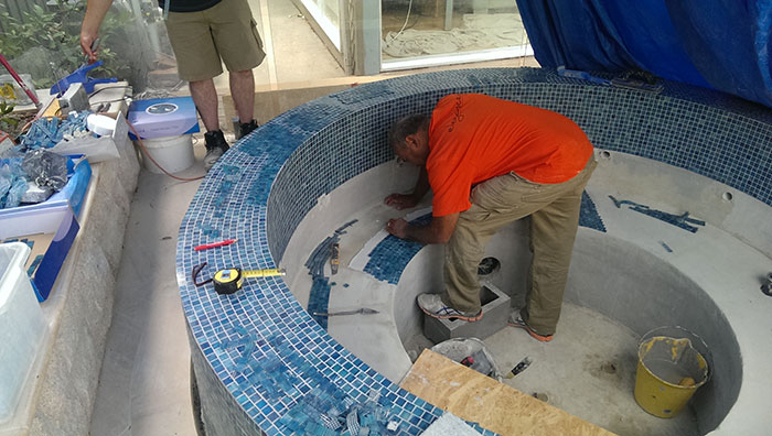 tiling the spa