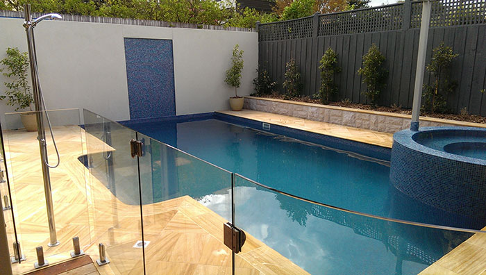 Finished pool renovation malvern